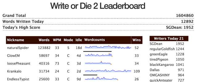 Leaderboard screenshot
